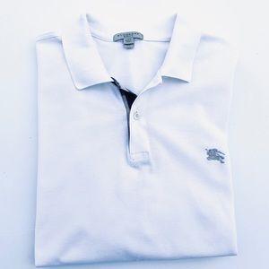 Burberry Brit Classic White Pique Polo Shirt XXL